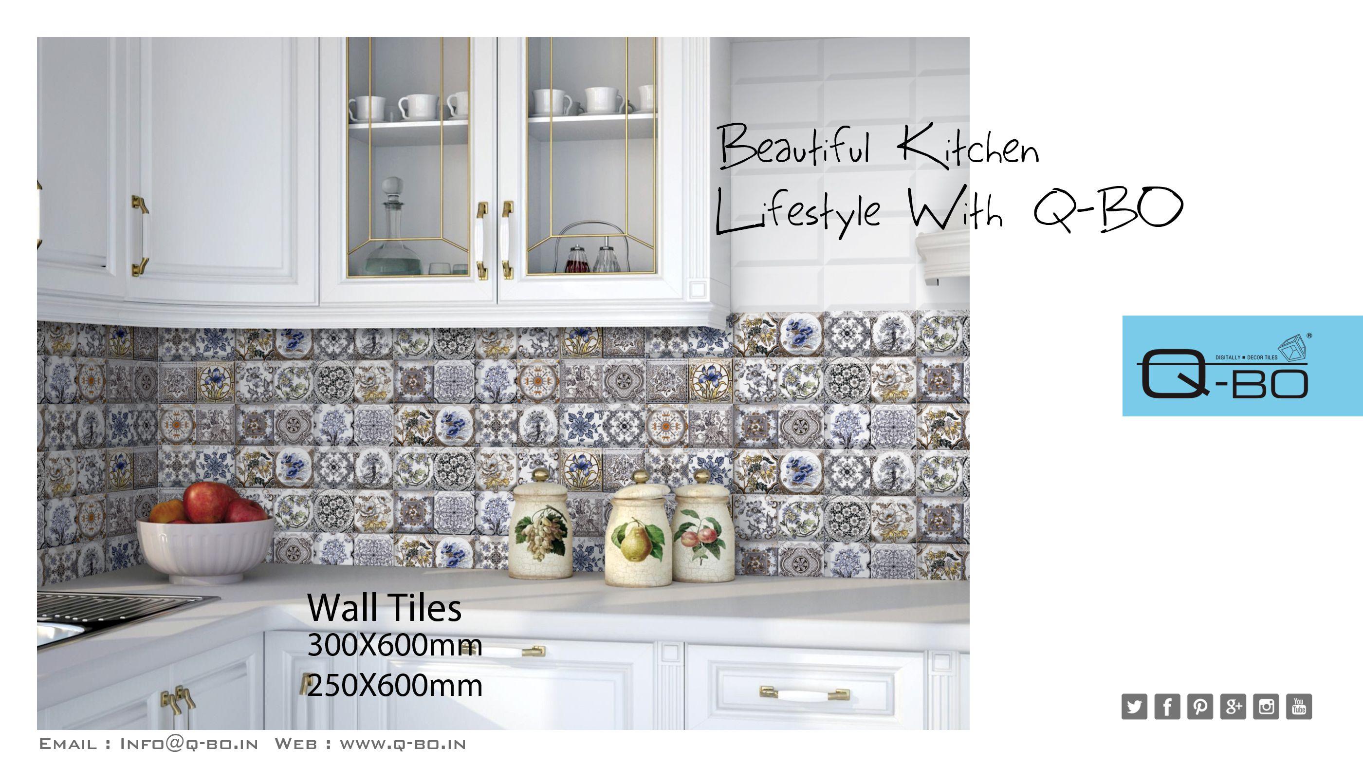 Beautiful kitchen lifestyle with Q-BO. #Q_BO #digital #decor #ceramic