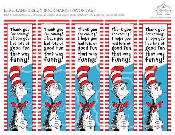 picture about Dr Seuss Printable Bookmarks named Immediate Electronic Down load Printable Bookmarks, Get together Want