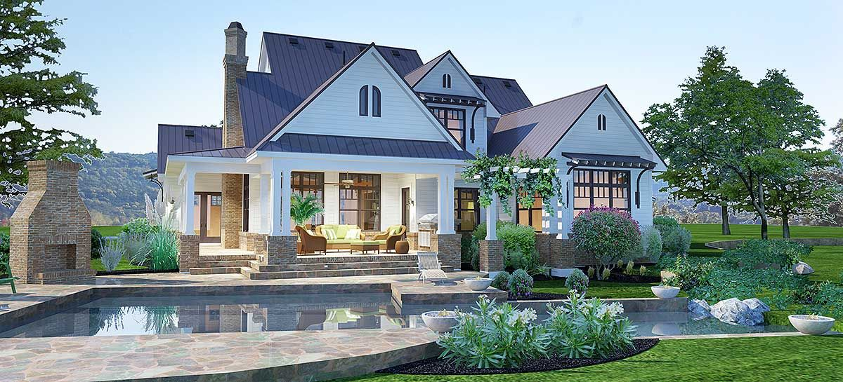 farmhouse home designs. Plan 16853WG  Elegant Farmhouse Living House and Farm house