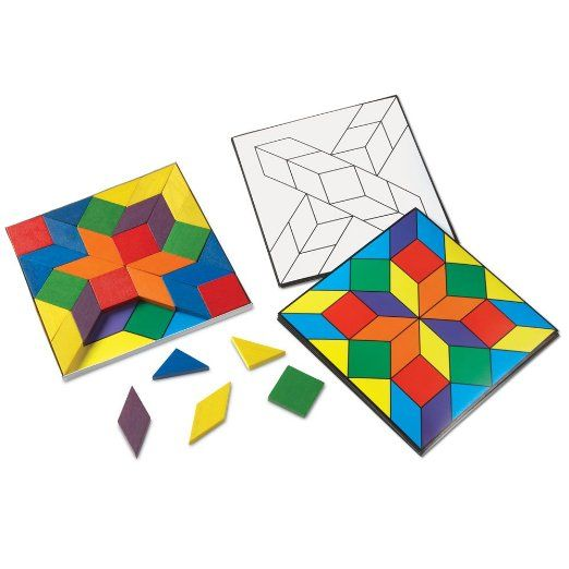 Amazon Com Learning Resources Parquetry Blocks And 20 Pattern
