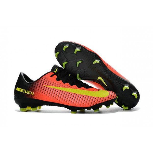Nike Ronaldo Mercurial Vapor Xi Fg Football Shoes Orange Yellow Black Football Boots Football Shoes Nike Men