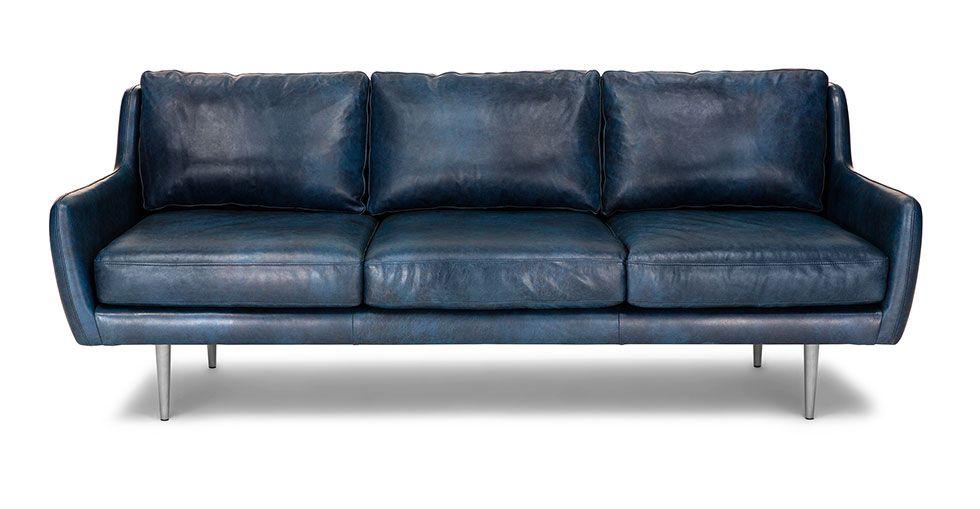 Matrix Oxford Blue Sofa Blue Leather Sofa Best Leather Sofa