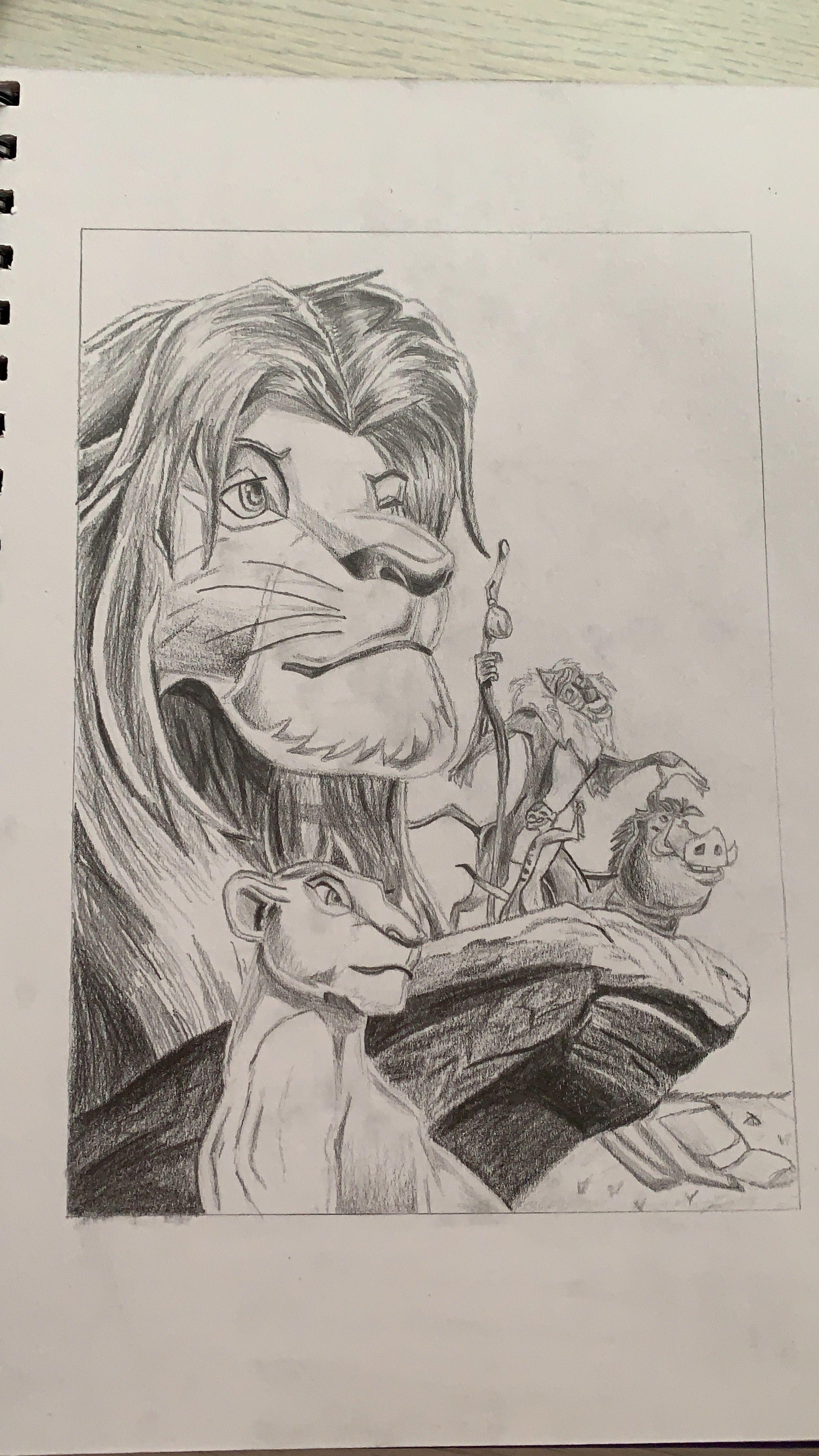 Dibujo A Lapiz Facil De El Rey Leon Dibujos Dibujo De Animales