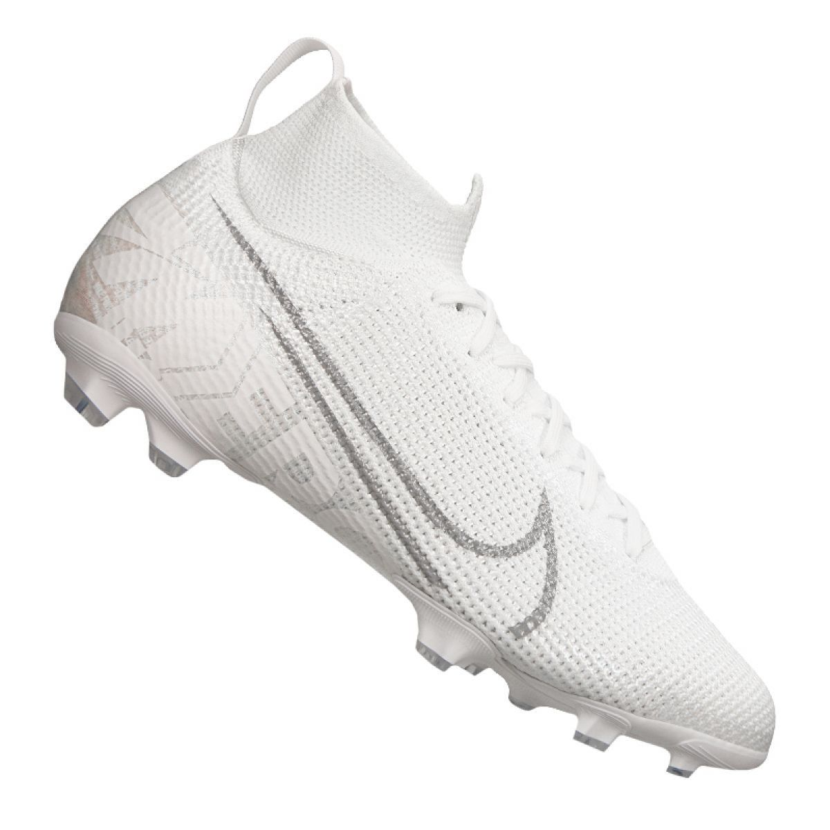 Buty Pilkarskie Nike Superfly 7 Elite Fg Jr At8034 100 Biale Biale Football Shoes Superfly Junior Boots