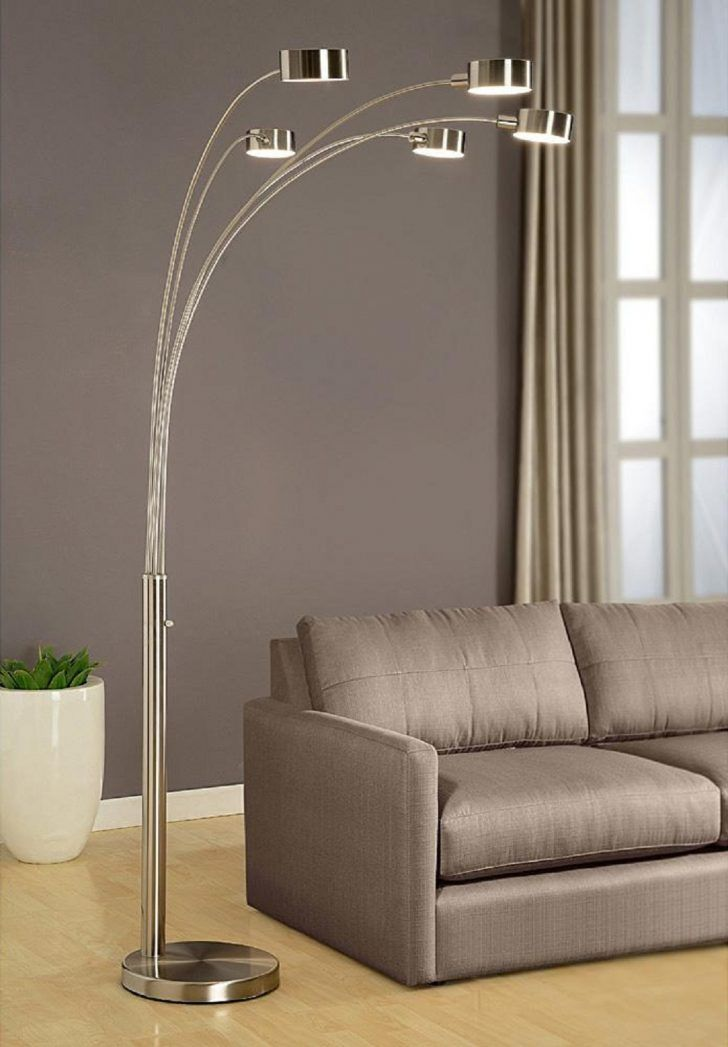 Micah Arched Floor Lamp Manufactured By Artiva With 5 Arm And
