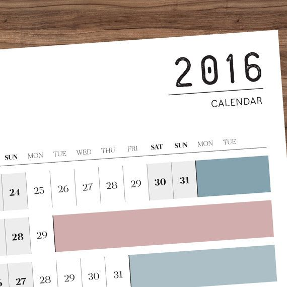 Printable Pdf  A Double Year Wall Planner     Calendar