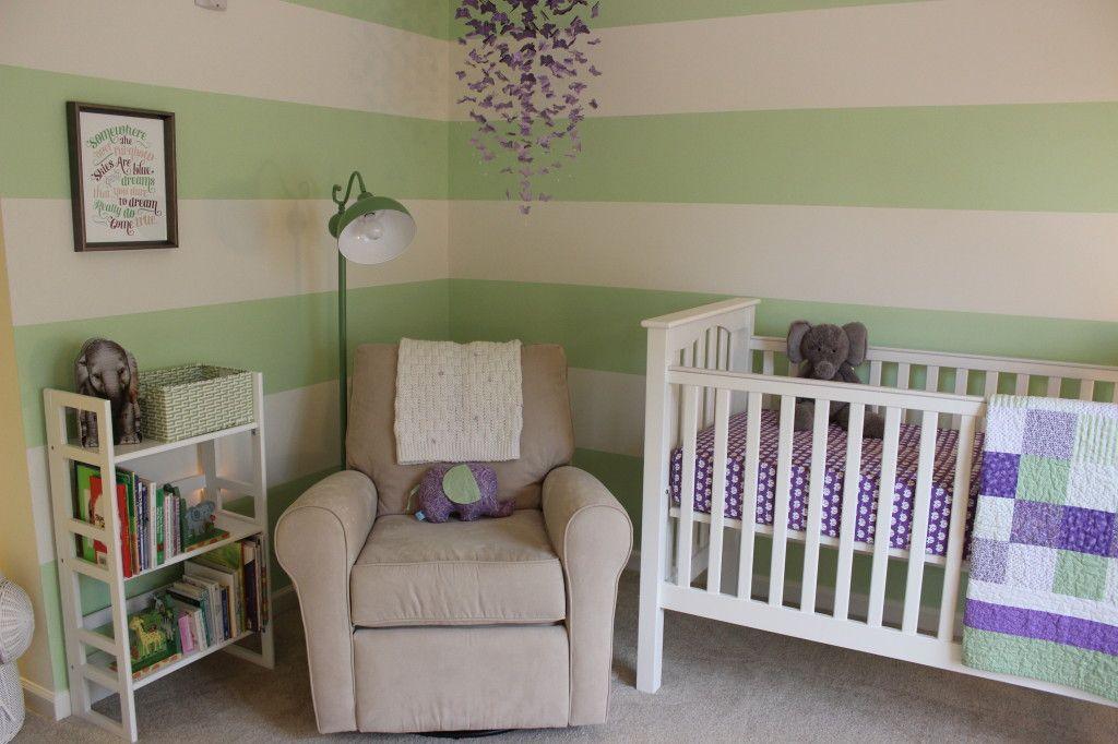 Nursery Decor Project Green And Purple