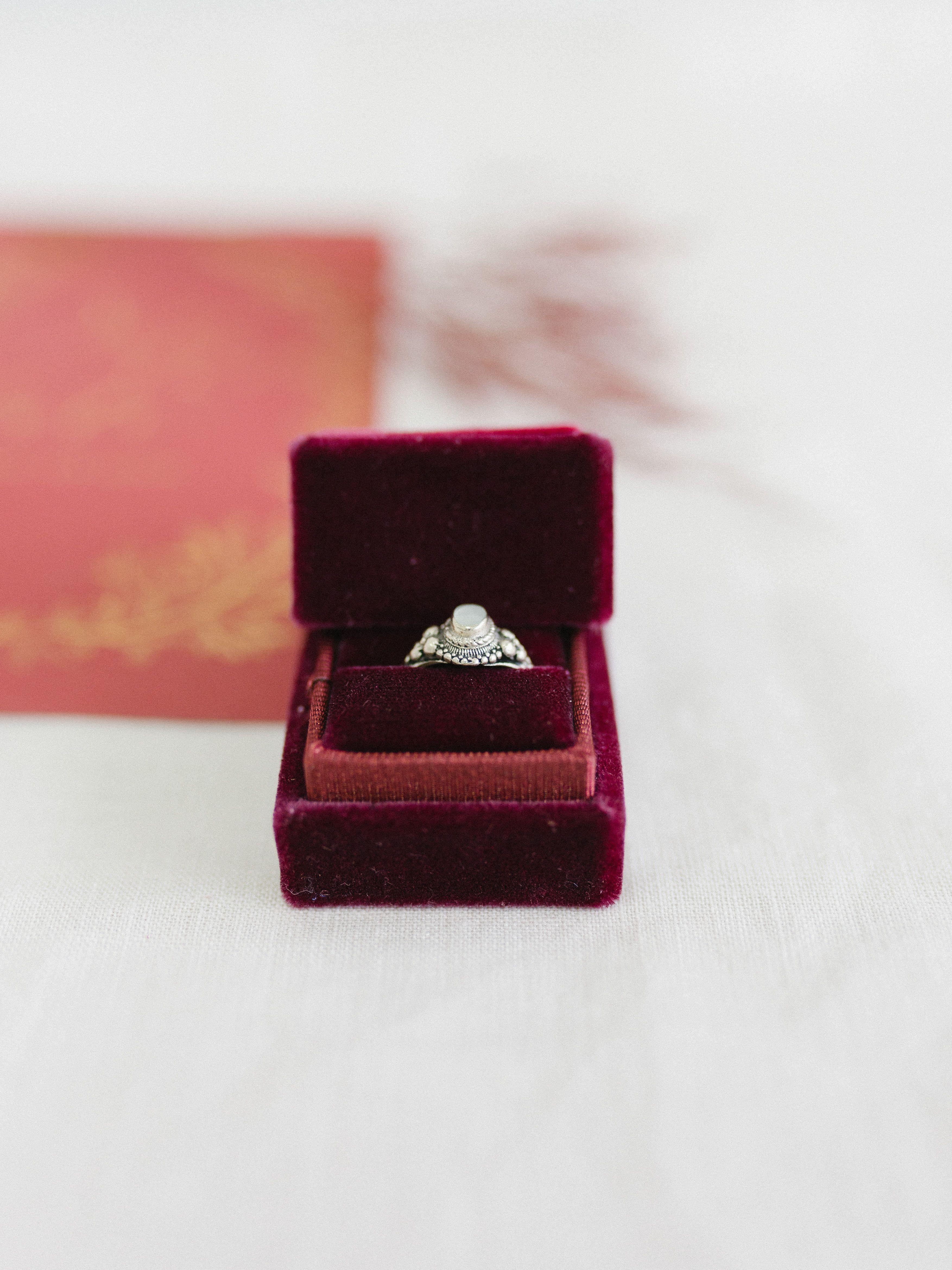 1deccb13f755 Burgundy velvet ring box in vintage style  fallwedding  fineartwedding   ringbox  ringcase  vintageweddingring