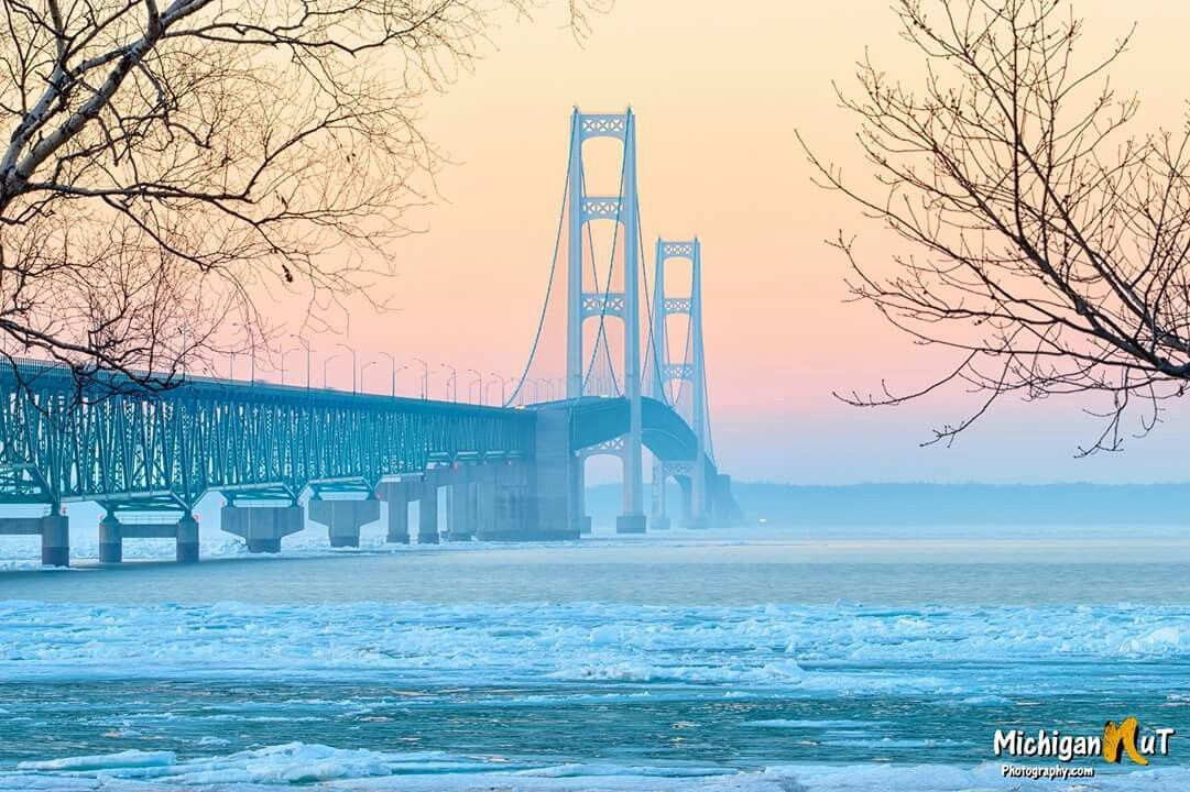 frosty Mackinac Bridge (Michigan Nut Photography)