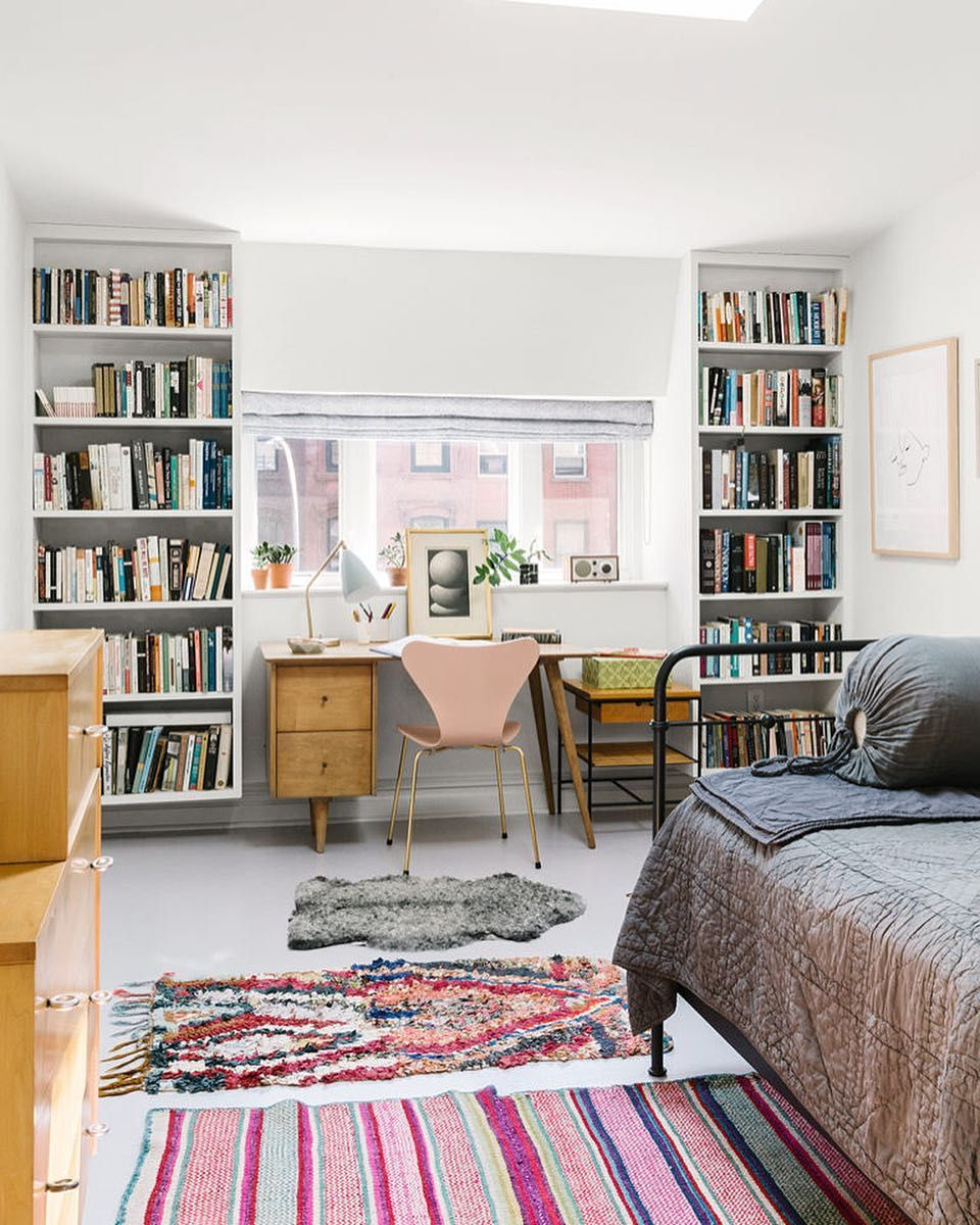Floating Book Shelves / @cupofjo
