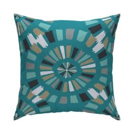 Room Essentials Outdoor 15 Pillow Medallion Sea Going I Wish This