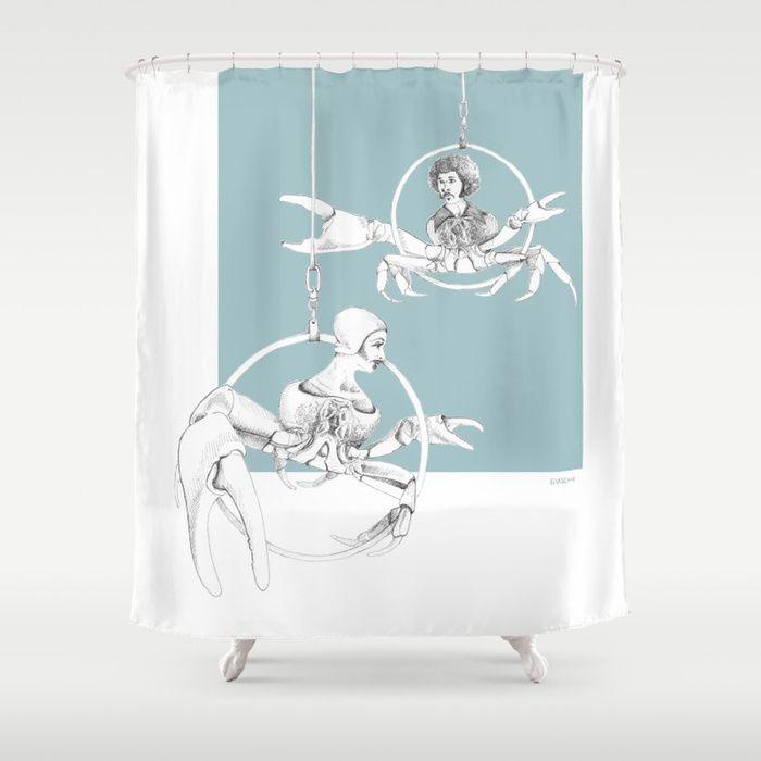 Weird Wonderful Crab Circus Shower Curtain