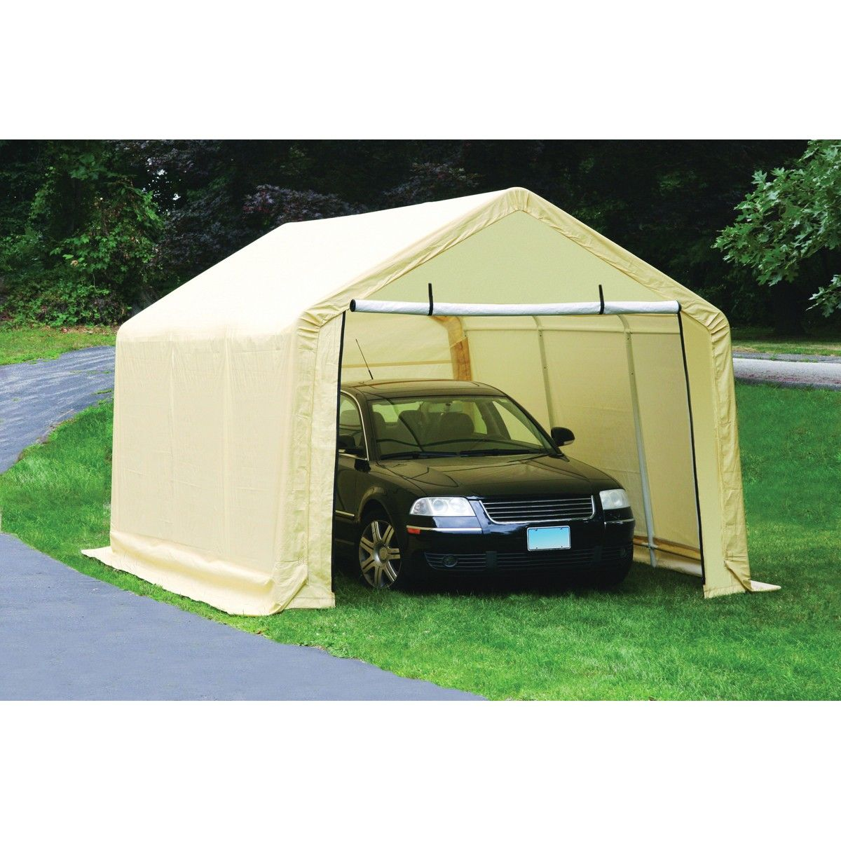 Portable Garage  sc 1 st  Pinterest & 10 ft. x 17 ft. Portable Garage | Portable garage and Storage