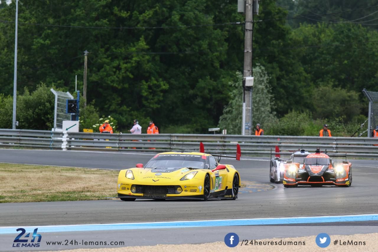 #64 CORVETTE RACING - GM (USA) CHEVROLET CORVETTE C7R GTE PRO / GAVIN (GBR)-MILNER (USA)-TAYLOR (USA) - 24 Heures du Mans 2015 # Test Day