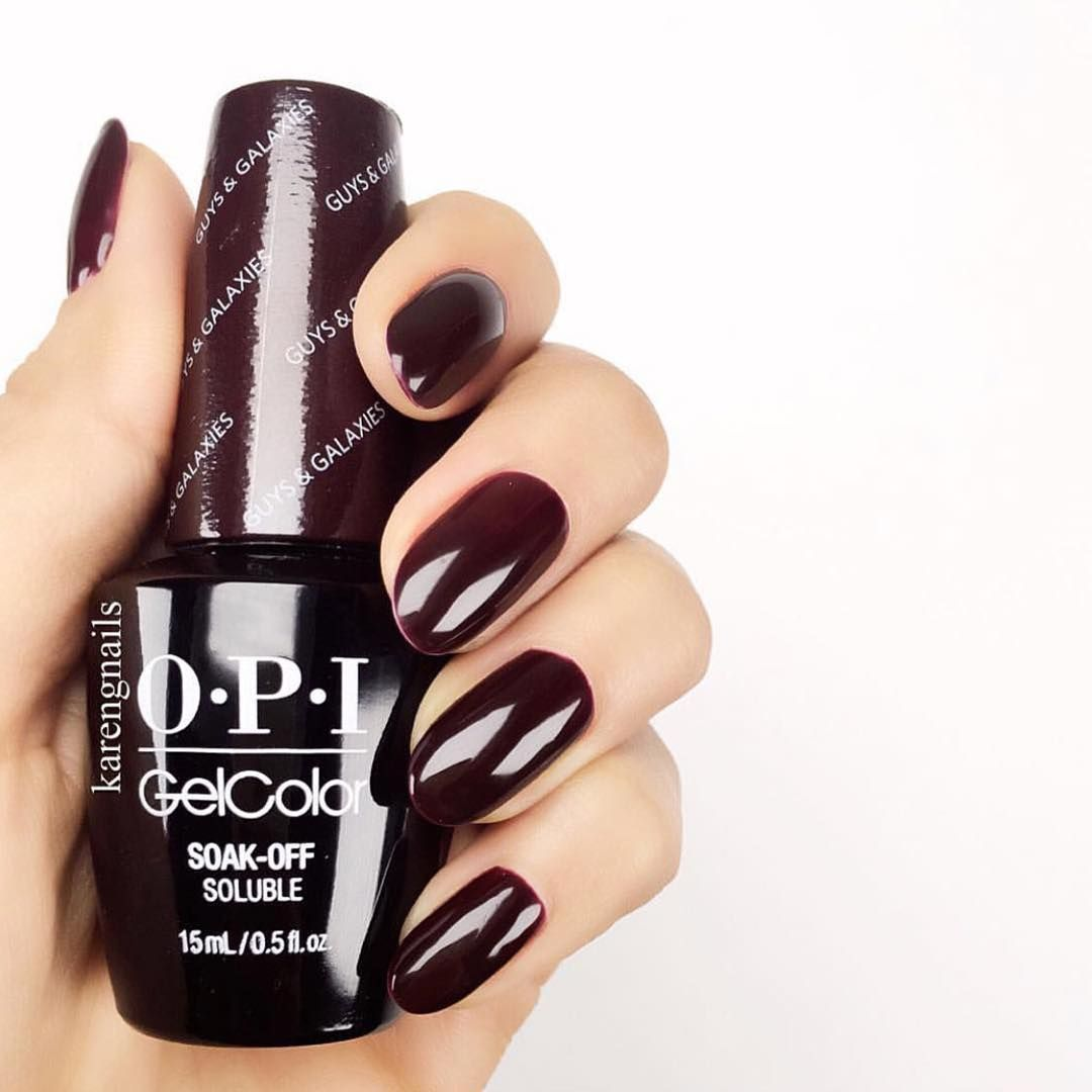 Look at the shine of @karengnails #OPI #GelColor mani! Shade shown ...