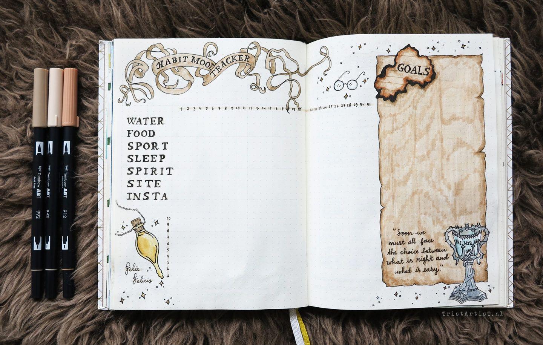 Bullet Journal Harry Potter Monthly Theme Stickers Bullet Journal Themes Bullet Journal Ideas Pages Bullet Journal Inspiration