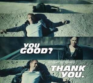 Paul Walker and Michelle Rodriguez in Fast & Furious 7 #fastfurious7 #PaulWalkerTribute