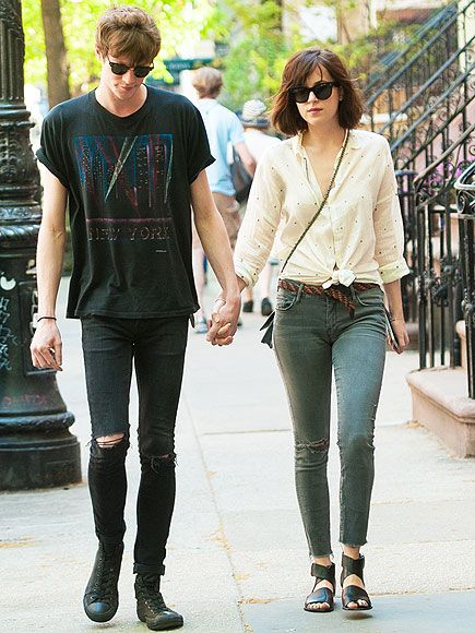 Star Tracks: Monday, May 11, 2015 | TAKE IT TO THE STREETS | Hey! That's not Christian Grey! Fifty Shades of Grey star Dakota Johnson links up with boyfriend Matthew Hitt on Thursday in N.Y.C.