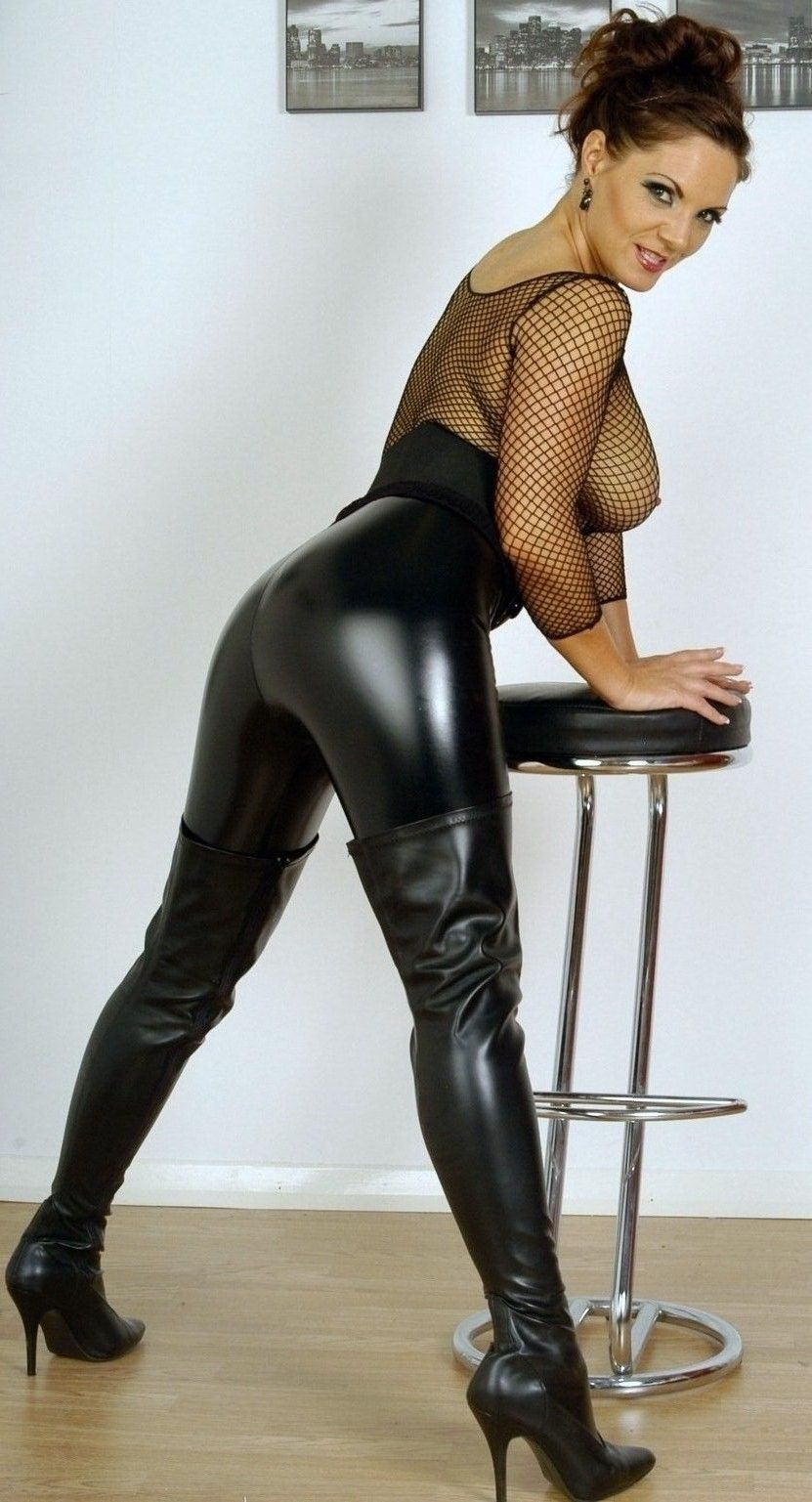 Showing Porn Images For Leather Pants Heels Porn  Www -5107