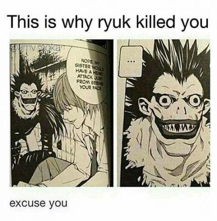 22  Ideas funny anime memes otaku lol death note