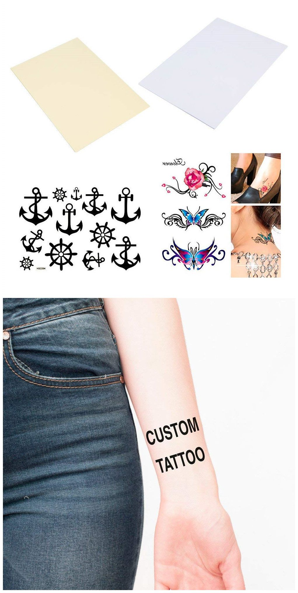 graphic relating to Printable Temporary Tattoos referred to as BENECREAT 20 Sheets Do-it-yourself A4 Momentary Tattoo Go Paper