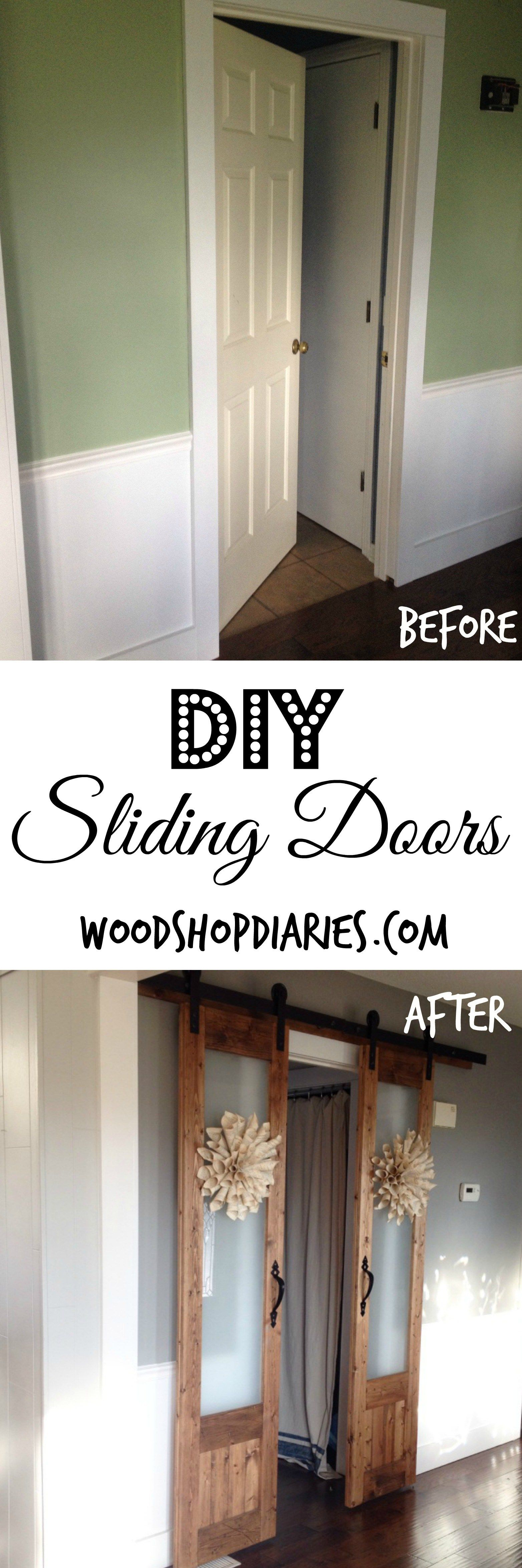 Dress up the messsliding doors to laundry room home