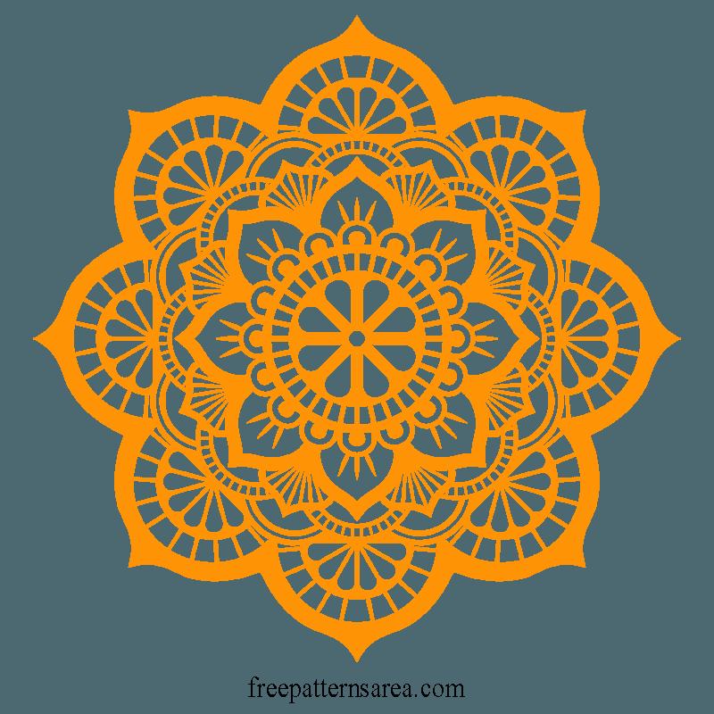 Lotus Mandala Vector Art Pattern Files Pattern Art Mandala