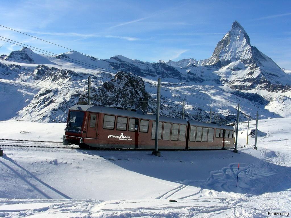 Gornergrat Monte Rosa Bahn  Ferrovia che da Zermatt 1620 porta ai 3100 metri del Gornergrat
