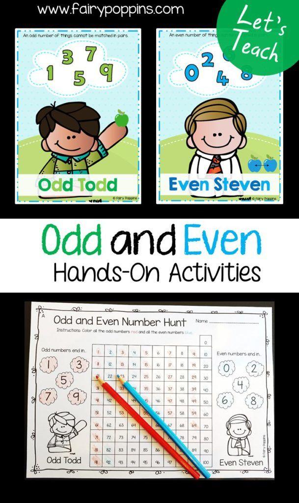 Odd And Even Numbers Worksheet For Kindergarten