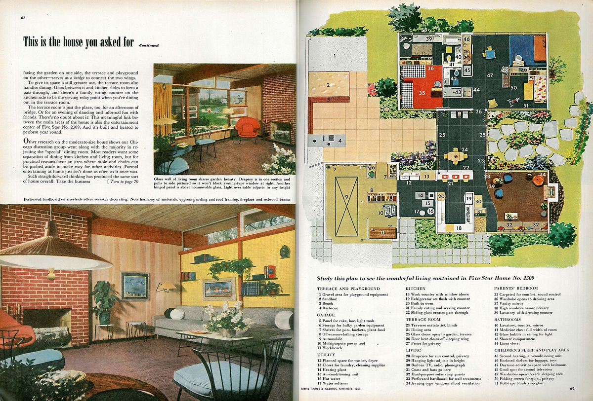 06 better homes and gardens sept 1953 03 | Mini Architecture 4 ...
