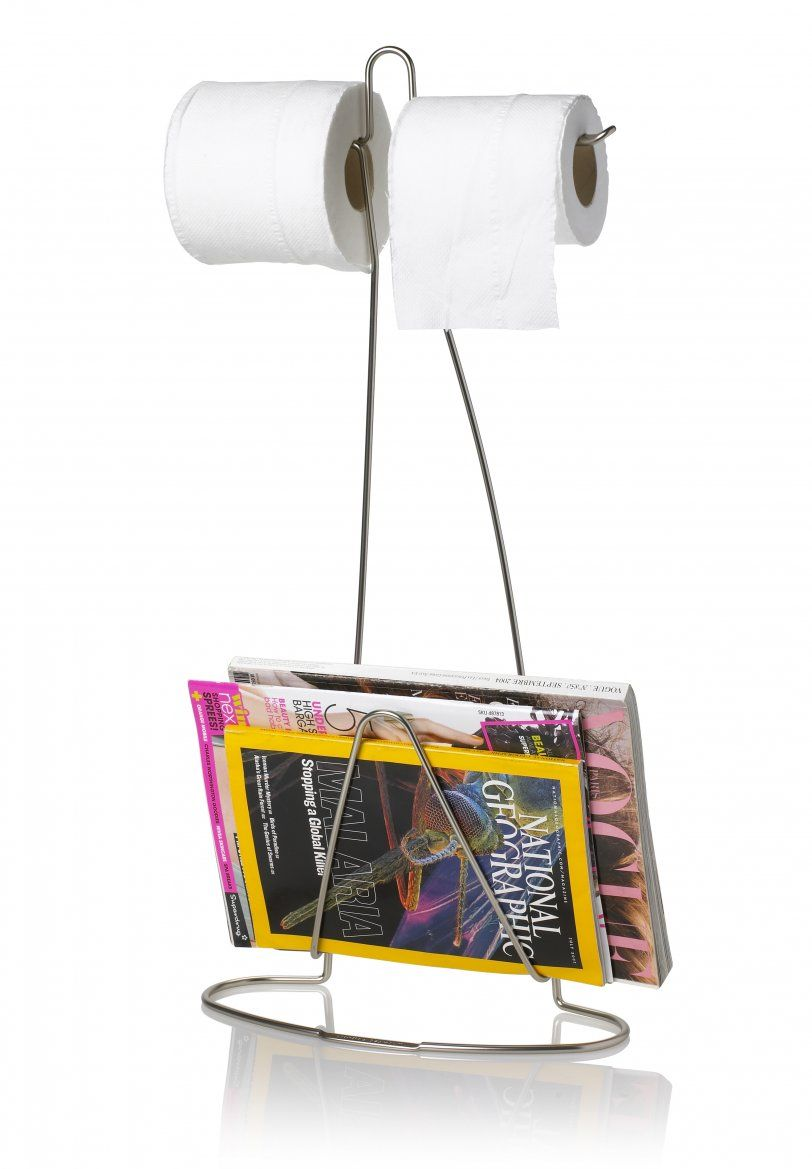 Give Your Bathroom A Cool Accent With Loo Read Its Wire Frame Holds Magazines Newspapers And Of Course Porte Papier Toilette Derouleur Papier Wc Derouleur