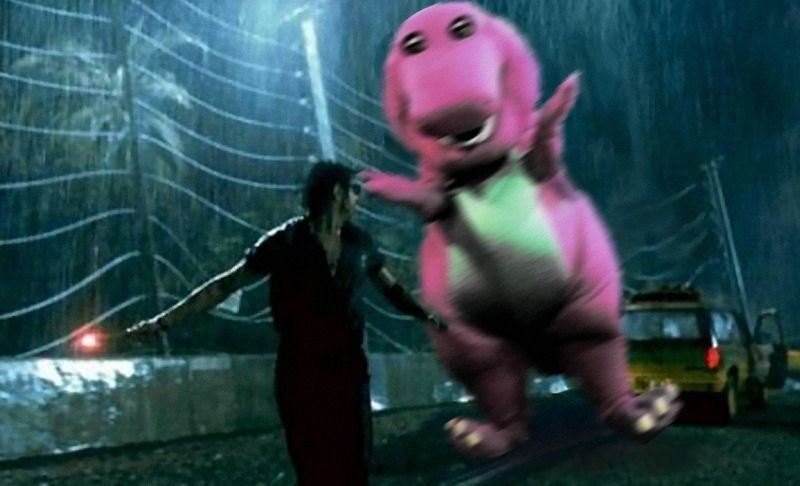 Barney in Jurassic Park