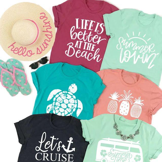 Beach & Summer Themed Graphic Tees  $13.99