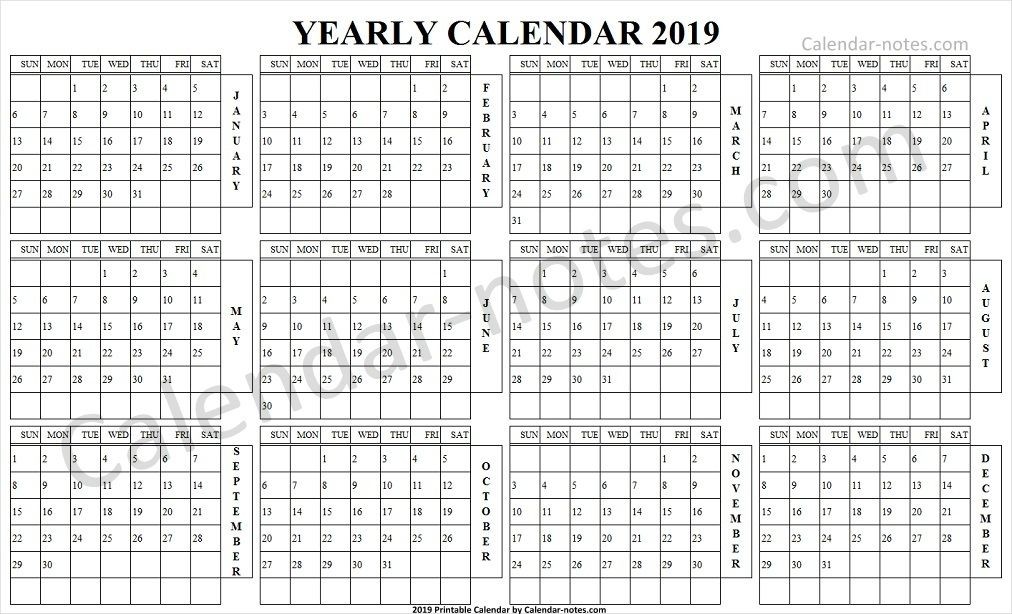 Calendar 2019 Landscape In Color Yearly Calendar 2019 Pinterest