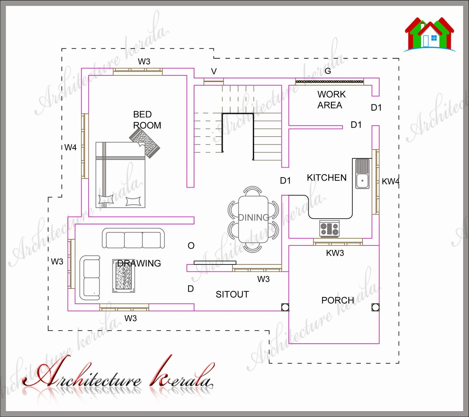 Small first floor house design architecture kerala plan also plans rh pinterest