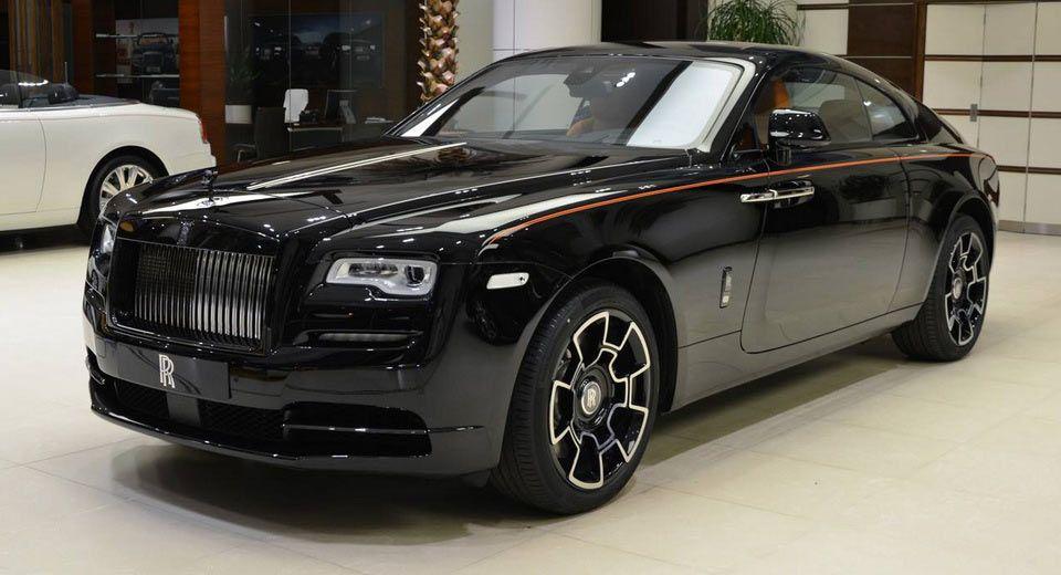Rolls Royce Wraith Black Badge Has A Very Orangy Interior Carscoops Rolls Royce Wraith Rolls Royce Wraith Black Rolls Royce Phantom