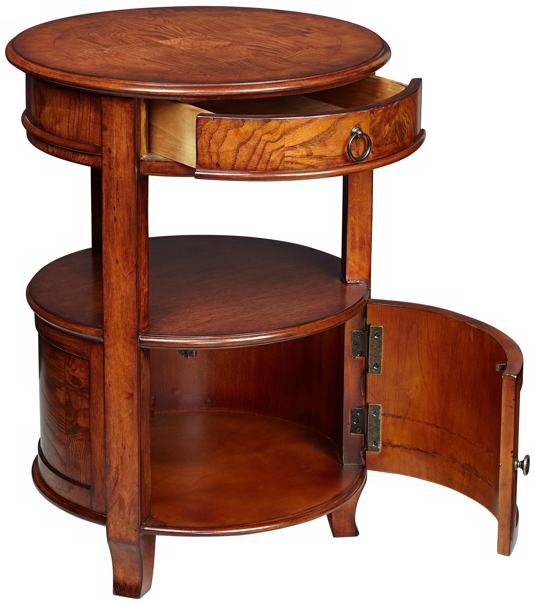 Best Kendall 20 Wide Cherry Finish Small Round Accent Table 640 x 480