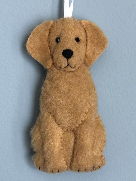 Golden Retriever Dog Felt Ornament Guide Dog Search and