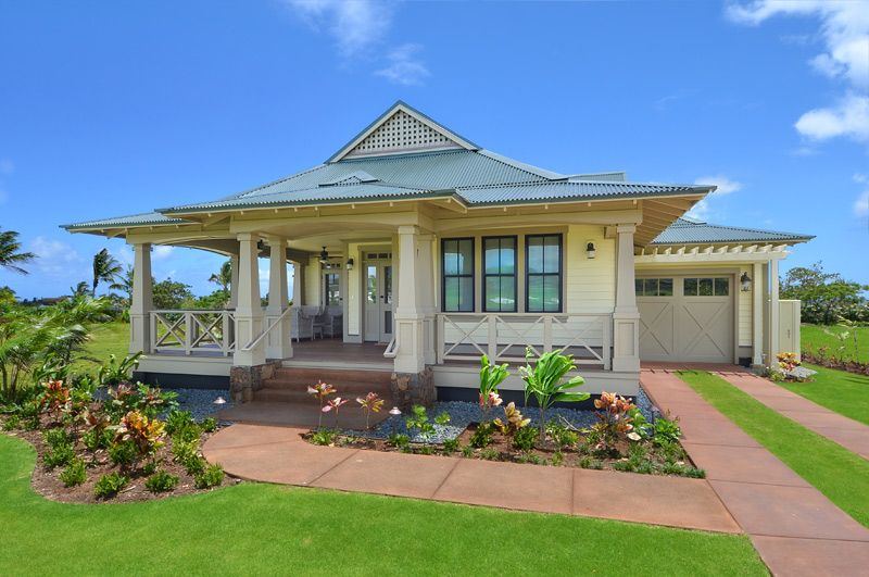 Hawaii plantation home plans kukuiula kauai island for Hawaiian plantation architecture
