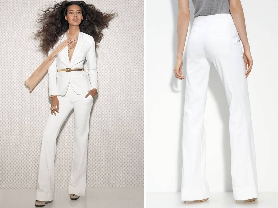 All White Tailored Women S Suit For Your Rehearsal Dinner