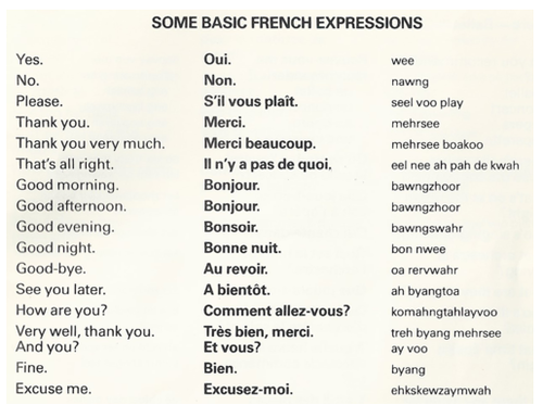 Some Basic French Expressions ... | Paris is Not a City, It's a ...