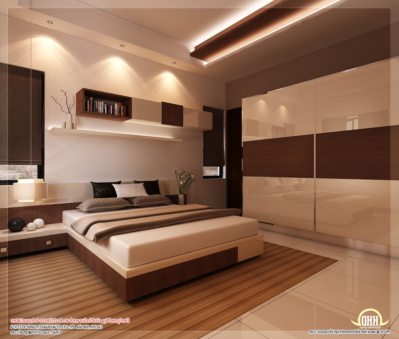 beautiful houses bedroom interior in kerala home combo ...