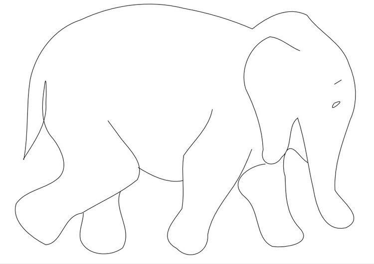 Malvorlage Elefant Animale Păsări Insecte Elefanten Elefant