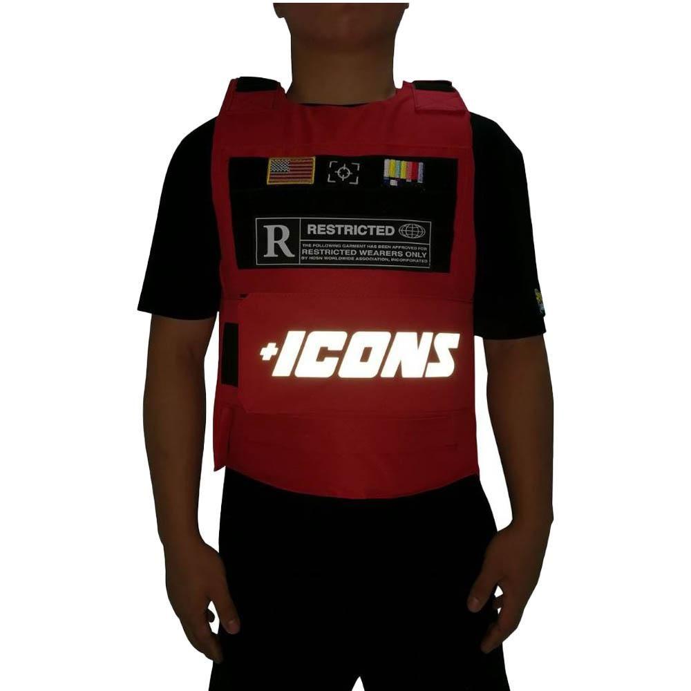 Hudson Icon Reflective Vest Red | Vest, Bullet vest, Fashion