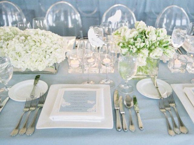 Decoration de table mariage printanier