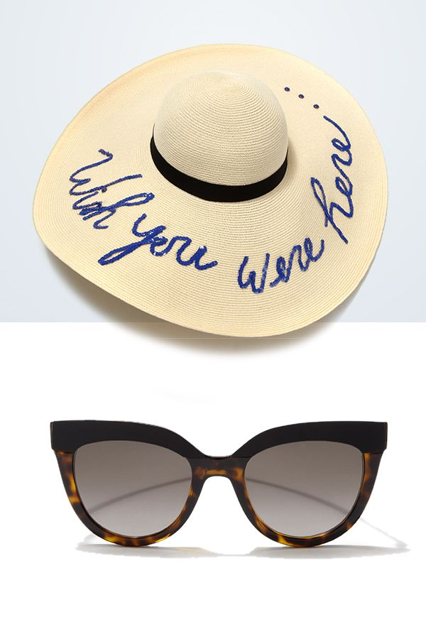 This  EugeniaKim sun hat says it all paired with  Dior sunglasses and your  ready to escape into a beach getaway  SaksStyle 1166d2381c1