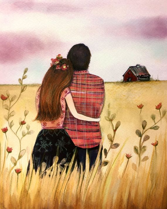 Картинки пары влюбленные рисованные