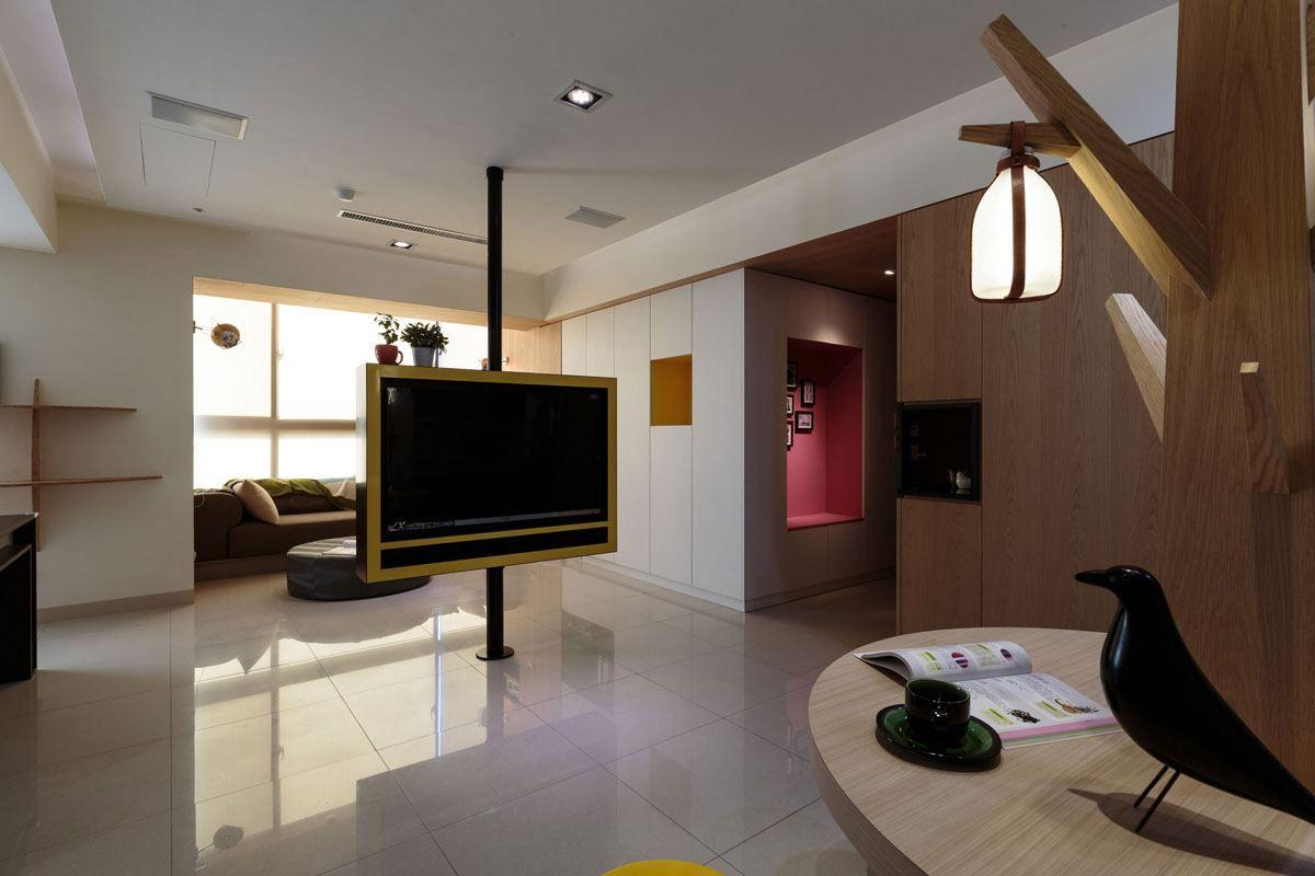 Meuble Design Taiwan2 D Co Salle Pinterest Meuble Design  # Un Meuble Tv Au Milieu D'Un Salon