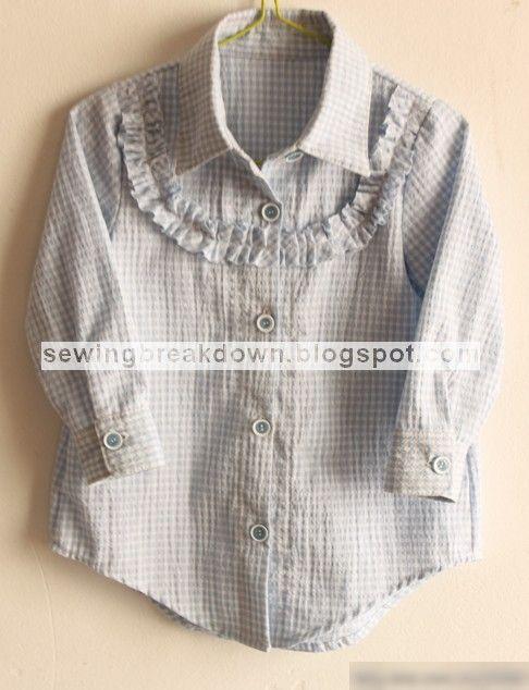 خياطة و تفصيل كيفية خياطة قميص بنات بالصور خطوة بخطوة Shirts For Girls Girl Outfits Clothes