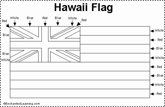 Hawaii Flag Coloring Page In 2020 Hawaii Flag Flag Coloring